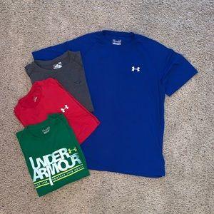 Bundle of men's Under Armour SIZE LARGE T-shirt's